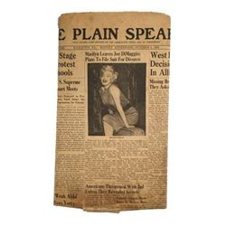 "Marilyn Monroe Original Newspaper The Plain Speaker ""Marilyn Leaves Joe Dimaggio"
