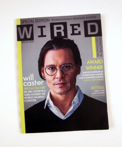 Transcendence \'Wired\' magazine Will Caster (Johnny Depp) Movie Props