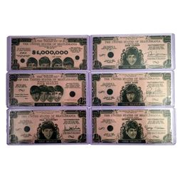 Beatles Money set of 6 Original Currency Bills 1964