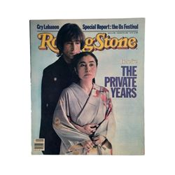 "Beatles Rolling Stone Magazine John Lennon & Yoko Ono ""The Private Years"""