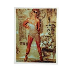 "Farrah Fawcett Nude Signed Color 8x10 Photo From Playboy's All of Me  ""Bubblewrap"""