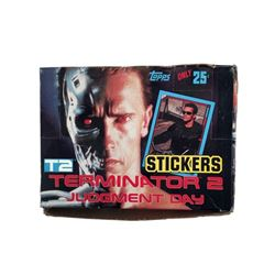 Terminator 2 (T2) Judgement Day Arnold Schwarzenegger 1991 Gum Card Box