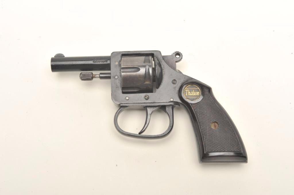german made thalson da pocket revolver 25 caliber 2 barrel