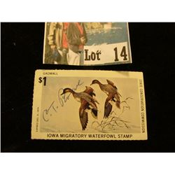 1974 Iowa Migratory Waterfowl Stamp (signed).