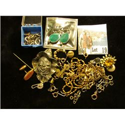 Various Cufflinks, Earrings, Jewelry Parts and etc.