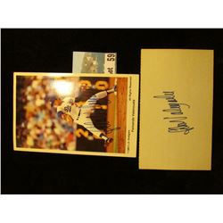 "3"" x 5"" File Card with ""Fernando Valenzuela"" Autograph & an Official Soft Drink of Dodger Stadium Co"