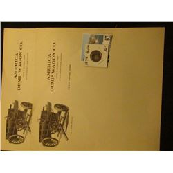 "(2) Pieces of Letterhead Stationery ""America Dump Wagon Co. Chas. P. Murray, Prop. 307-308 Security"