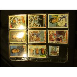 "(5) 1981-82 Autographed Baseball Cards in a 9-pocket Plastic Page including ""Bob Ojeda"". ""Gary Weiss"