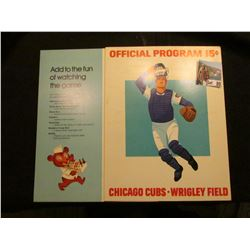 "1975 & 1976 Posters advertising ""Chicago Cubs Wrigley Field Official Program(s) (15c & 20c)."