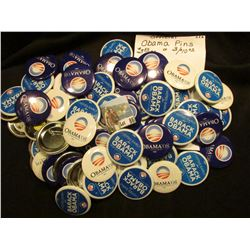 Group of (64) Barack Obama Campaign Pins, which 'Doc' sold at $3.50 each.