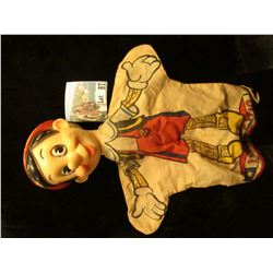 """Pinocchio"" Hand Puppet made by Gund manufacturing Co. under license from Walt Disney Co."