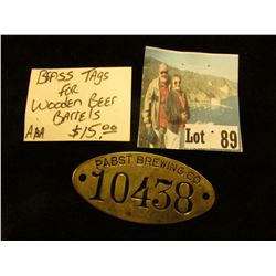 """Pabst Brewing Co. 10438"" Brass Barrel Tag."