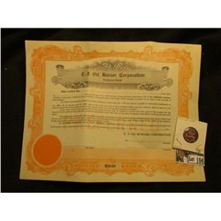 "Unissued $50 Stock Certificate Preferred Stock ""E-Z Burner Corporation"", Marion County, Indiana; & a"