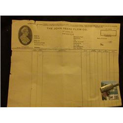 "5/3/1930 Invoice ""The John Deere Plow Co. St. Louis, Mo."", vignette of Mr. Deere l.; & Harper Whiske"