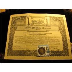 "Sept. 26, 1927 Stock Certificate for Ten Shares of ""Angelus Oil Mining Association A Trust"", center"