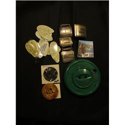Doc's Sewing Basket': (4) Giant Grip Antique Belt Buckels; 1898-1948 Automatic Button Company Giant