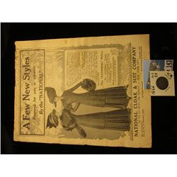 "1909 Advertising Booklet from ""National Cloak & Suit Company…New York City; & 1866 U.S. Three Cent N"