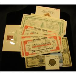 Large Group of various Adventureland Discount $1 Scrip, which 'Doc' Collected and sold at .50c each;