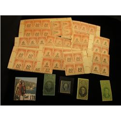 (3) Different Cigar/Cigarette Stamps, Series 1901 to act of 1926; Scott # 361, Mint, NG Five Cent Wa