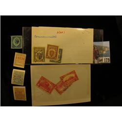 U.S. Internal Revenue Two Cent, 1447; (3) Different early Telegraph Stamps; (3) Different U.S. Parce
