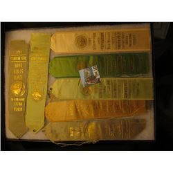 "Collection of (8) different 1927 ""Iowa State Fair and Exposition"" Premium Ribbons from Des Moines (I"