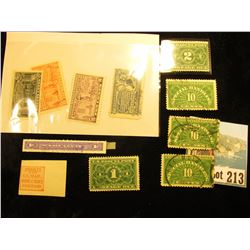 "(5) Special Handling & Postage Due Stamps; Narcotic Stamp; (4) Special Delivery; and a Rare ""Swarts"