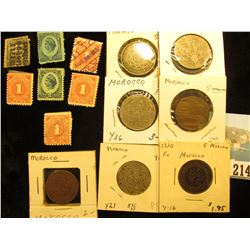 (7) Documentary or Internal Revenue Stamps; & (7) Various Morocco Coins, which 'Doc' valued at $25.