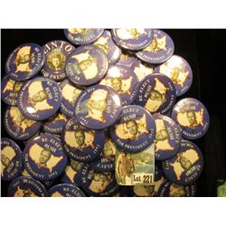 "Group of 25-50 large political Pin-Backs ""Re-Elect Bush For President 1992""."