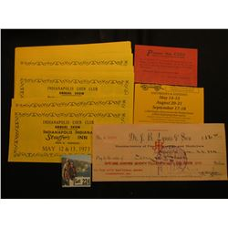 """""""L.S. Ayres & Company"""" Complimentary card; """"Dr. J.B. Lynas & Son Manufacturers of Fine Flavorings an"""