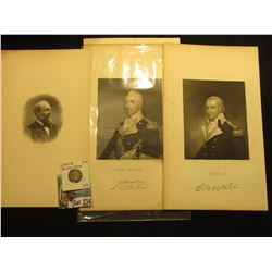 Vignette of President James A. Garfield; print from Steel engraving with autograph of Henry Lee; pri