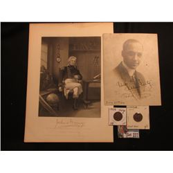 "Autographed photo ""Very truly Alan Arts To my side kick Frank Howe ""Rufus"" June 28th/14.""; Duyckinck"