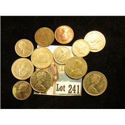 (12) Miscellaneous Canadian - includes 1921 one cent, (3) older nickels – 1928 P, 1930 P, & 1940 P