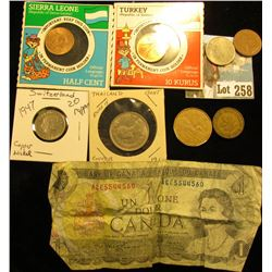 Small bag of foreign - Canada, Switzerland, Turkey, etc
