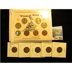 World War II Silver Nickel, Lincoln Cent collection & Lincoln Cents 2-1910,1911,1912,1913
