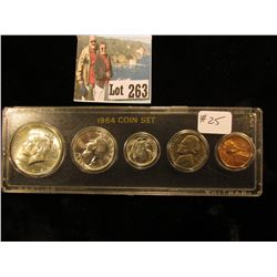 1964 P Uncirculated Coin Set, Cent to Half-Dollar.
