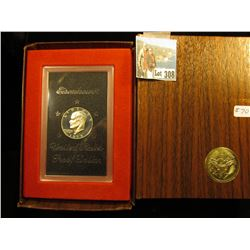 1973 S 40% Silver Eisenhower Proof Brown box, bid $32.00