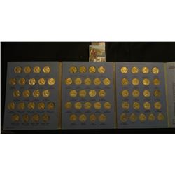 (65 pc.) Jefferson Nickel Collection in Whitman Album., complete from 1938 - 1961 includes all silve