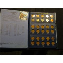 1941-1961 Deluxe Whitman Album-Lincoln Cents, Complete except for '55 Dbl Die, grades up to BU, incl