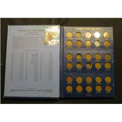1909-1940 Deluxe Whitman Album of Lincoln Cents. Highlights include 1909 VDB -AU, bid $12.50 , 10-S