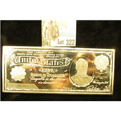 1 Troy LB Silver Plated Copper Bar - 5 Dollar Silver Certificate design