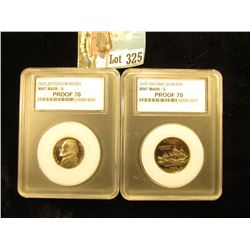 2000 S Virginia Quarter, & 2000 S Jefferson Nickel  Proof 70