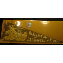 "Felt Banner ""Ringling Bros and Barnum & Bailey Circus""."