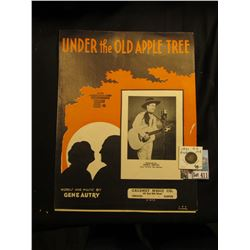 "Sheet Music Words and Music by Gene Autry ""Under the Old Apple Tree"", Calumet Music Co., 1932; & 183"