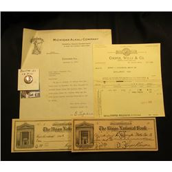 "Pair of 1912 era ""The Riggs National Bank, Washington, D.C.; Checks; 1929 letter with Advertising Le"