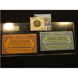 "1938 Depression Scrip ""Worthmore Progressive Dividend System (Twenty/Fifty"" Coupons…"", ""Lexington Me"