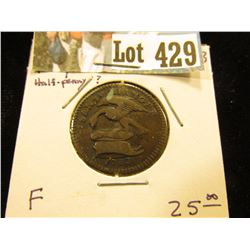 "1733 Isle of Man Copper Half-Penny, ""1733/Sans Changer"" Eagle with drooped neck, ""Quocunque/ID/1/2/I"