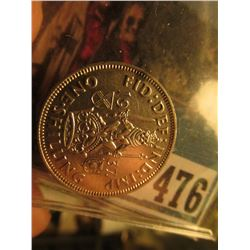 1937 Great Britain Shilling of King George VI, Uncirculated.