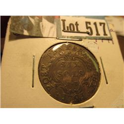 1791 Switzerland Silx Sols, VF.