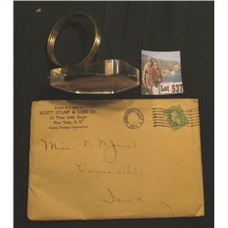 """Flexeril (Cyclobenzaprine Hcl MSD)"" advertising Paper-weight; & 1923 Post marked envelope containin"