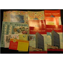 Several 1960-62 Souvenir Folders and postage stamps of  the United Nations.